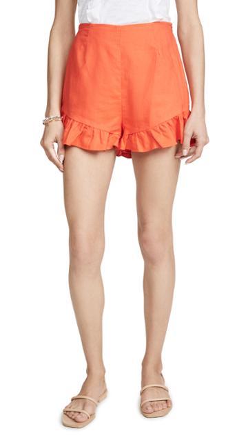 Lost Wander Papaya Shorts