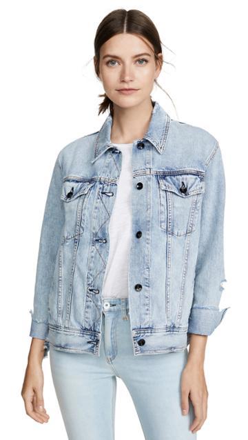 Rag Bone Jean Oversized Jacket
