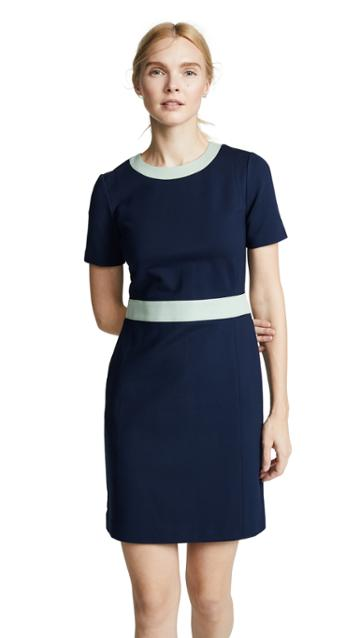 Tory Burch Ponte Colorblock Dress