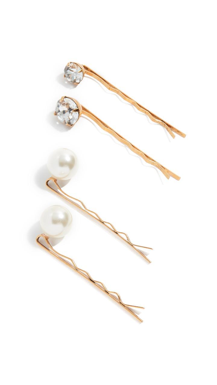 Jennifer Behr Gigi Bobby Pins Set Of 4