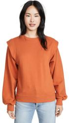 Agolde 80 S Sweatshirt Pleated Shoulder Sweatshirt
