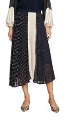 Clu Polka Dot And Gold Pleated Skirt