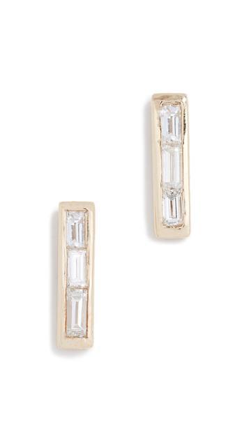 Ariel Gordon Jewelry 14k Baguette Diamond Stud Earrings