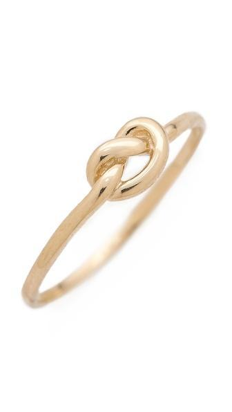 Ariel Gordon Jewelry Love Knot Ring - Gold