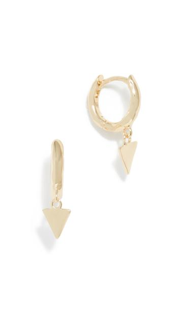 Gorjana Luca Triangle Huggie Earrings