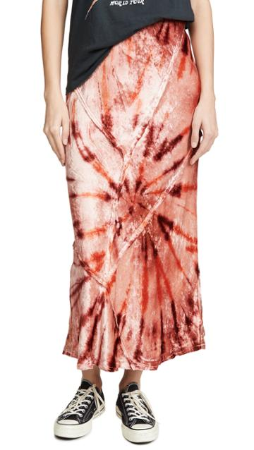 Free People Bali Serious Swagger Tie Dye Skirt