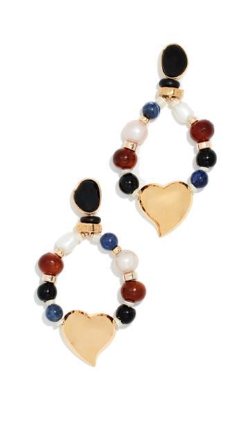 Lizzie Fortunato Candy Heart Earrings
