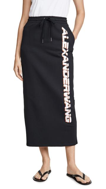 Alexanderwang T Dry French Terry Skirt