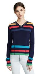 Paul Smith Vneck Stripe Sweater