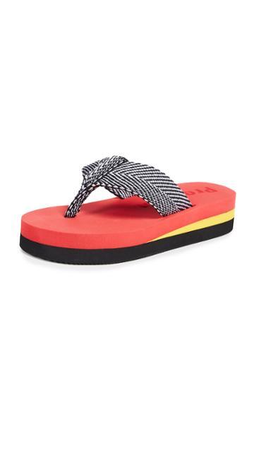 Proenza Schouler Chevron Flip Flops