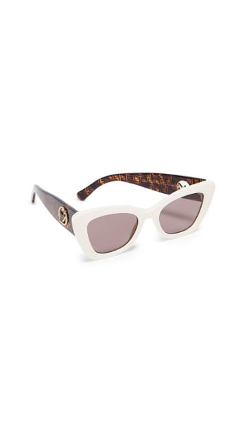 Fendi Narrow Cat Eye Logo Sunglasses