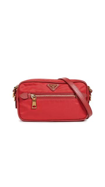 What Goes Around Comes Around Prada Tessuto Mini Shoulder Bag