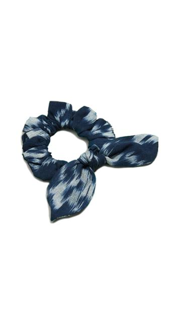 Namjosh Blue Plaid Scrunchie
