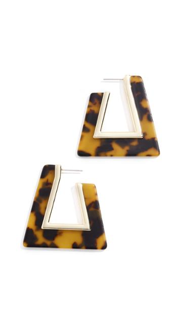 Rebecca Minkoff Triangle Resin Hoop Earrings