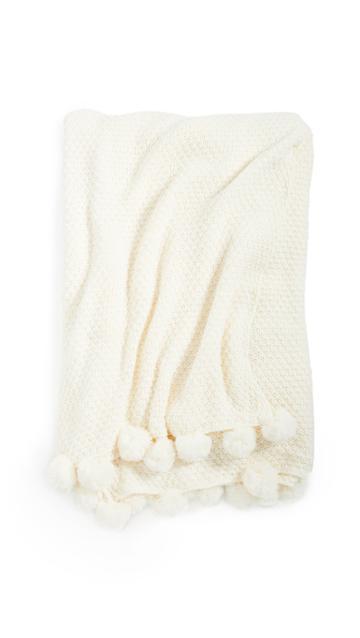Shopbop Home Shopbop @home Pom Pom At Home: Riley Oversized Throw Blanket