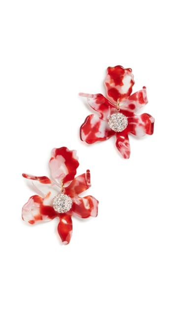 Lele Sadoughi Small Crystal Lilly Studs