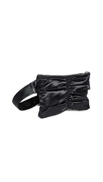 Mm6 Maison Margiela Satin Ruched Fanny Pack
