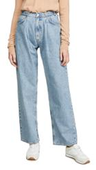 Agolde Mid Rise Pleated Baggyjeans