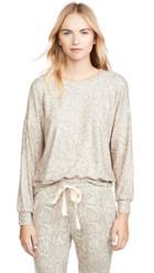 Sundry Snake Print Drapey Sweater