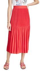 Alice Olivia Ken Pleated Midi Skirt