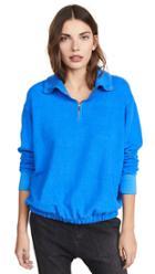 Stateside Sherpa Terry Half Zip Pullover