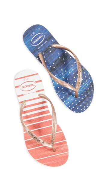 Havaianas Slim Watercolor Flip Flops