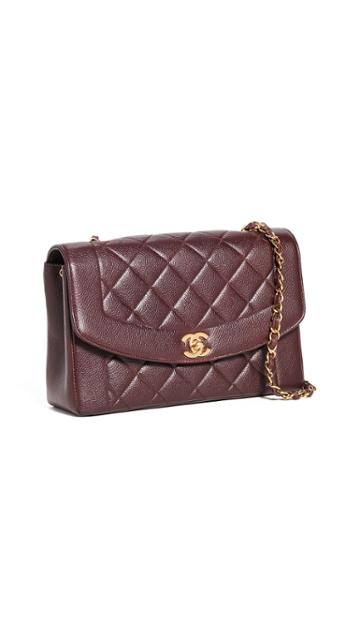 What Goes Around Comes Around Chanel Burgundy Caviar Classic 10 Flap Bag
