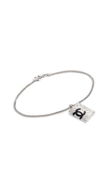 What Goes Around Comes Around Chanel Silver Cambon Bracelet