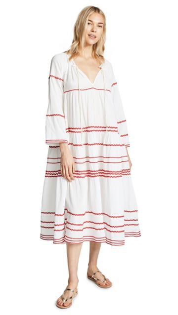 9seed Majorca Long Sleeve Ruffle Tier Maxi Dress
