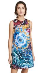 Alice Olivia Coley Tie Dye Crew Neck Aline Dress