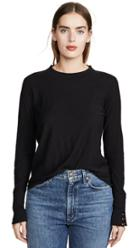 Nation Ltd Joni Mock Neck Sweater With Snap Cuffs