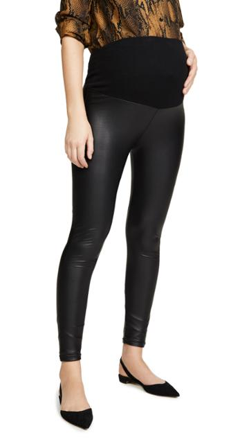 Plush Liquid Double Layer Over Belly Leggings