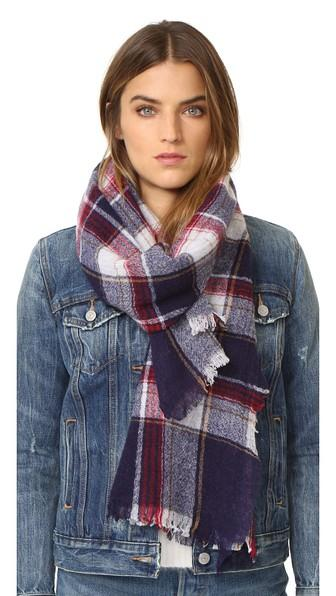 Madewell Rangeplaid Scarf - Dark Midnight