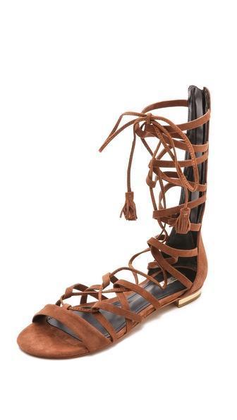 Schutz Billa Suede Gladiator Sandals - Suflair