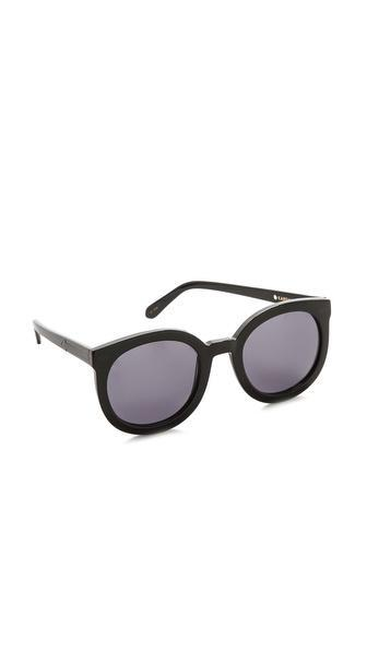 Karen Walker Super Duper Strength Sunglasses - Black