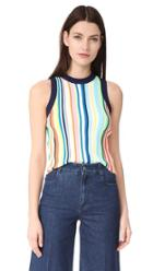 Milly Vertical Stripe Shell Top