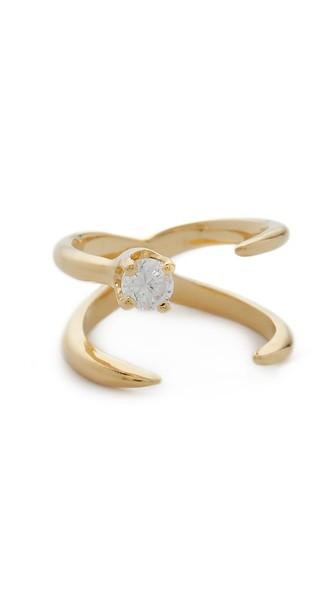 Bijules Baby Knuckle Ring - Gold/clear