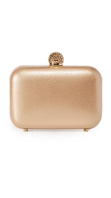 Inge Christopher Fiona Leather Clutch - Gold