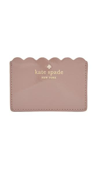 Kate Spade New York Patent Card Holder - Porcini/rose Taupe