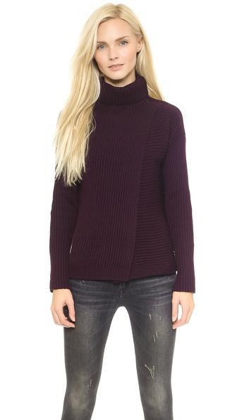 Joseph High Neck Sweater - Burgundy