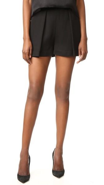 Brandon Maxwell Pleated Shorts