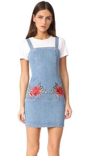 Nicholas N Nicholas Embroidered Floral Mini Dress
