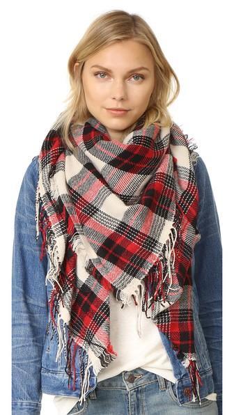 Madewell Plaid Cozy Weave Scarf
