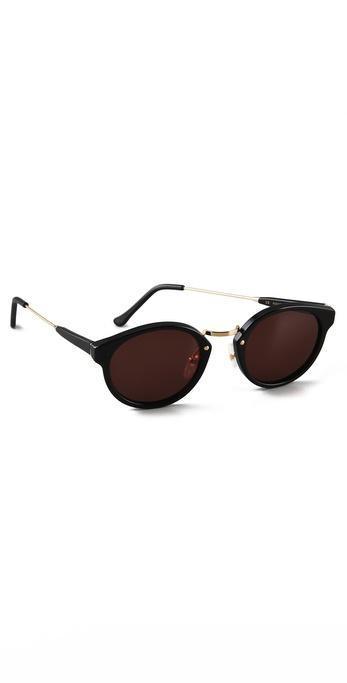 Super Sunglasses Panama Sunglasses - Black