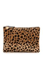 Clare V Leopard Flat Haircalf Clutch