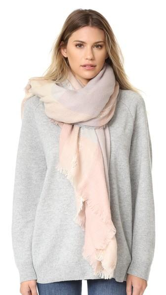 Spun Scarves By Subtle Luxury Plaid & Dipity Scarf - Lavender
