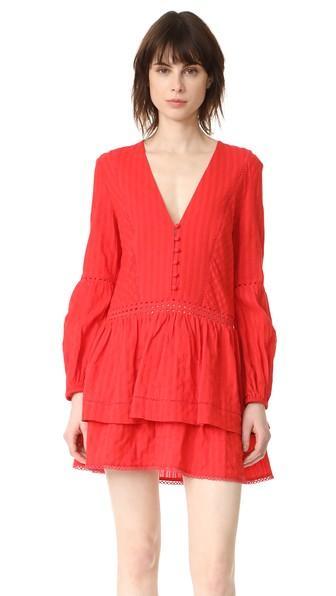 Nicholas N Nicholas Long Sleeve Mini Dress