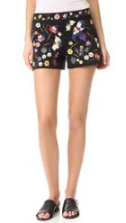 Alice Olivia Marisa Embroidered Shorts