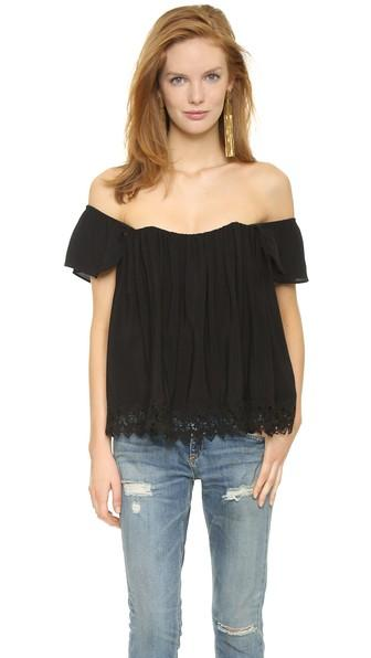 Lovers + Friends Life's A Beach Top - Black