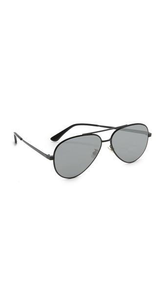 Saint Laurent Classic 11 Zero Base Mirrored Aviator Sunglasses